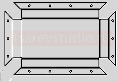 внешний вид полученной развертки в AutoCAD