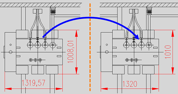 autocad округлить значения размеров