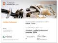 Сертификат Inventor Professional